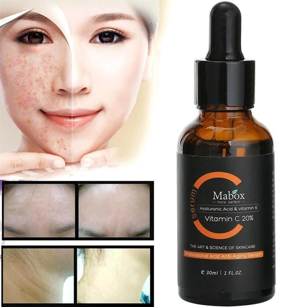 MABOX 2.5% Retinol Whitening Face Cream + Vitamin C Serum Anti-aging Remove Wrinkle LDO99