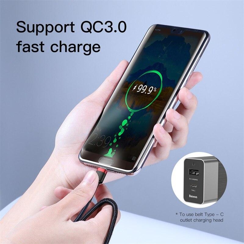 Baseus usb type-C кабель для USB C кабель для samsung Xiaomi huawei мобильный телефон PD Быстрая зарядка зарядное устройство Шнур USB-C type-C кабель
