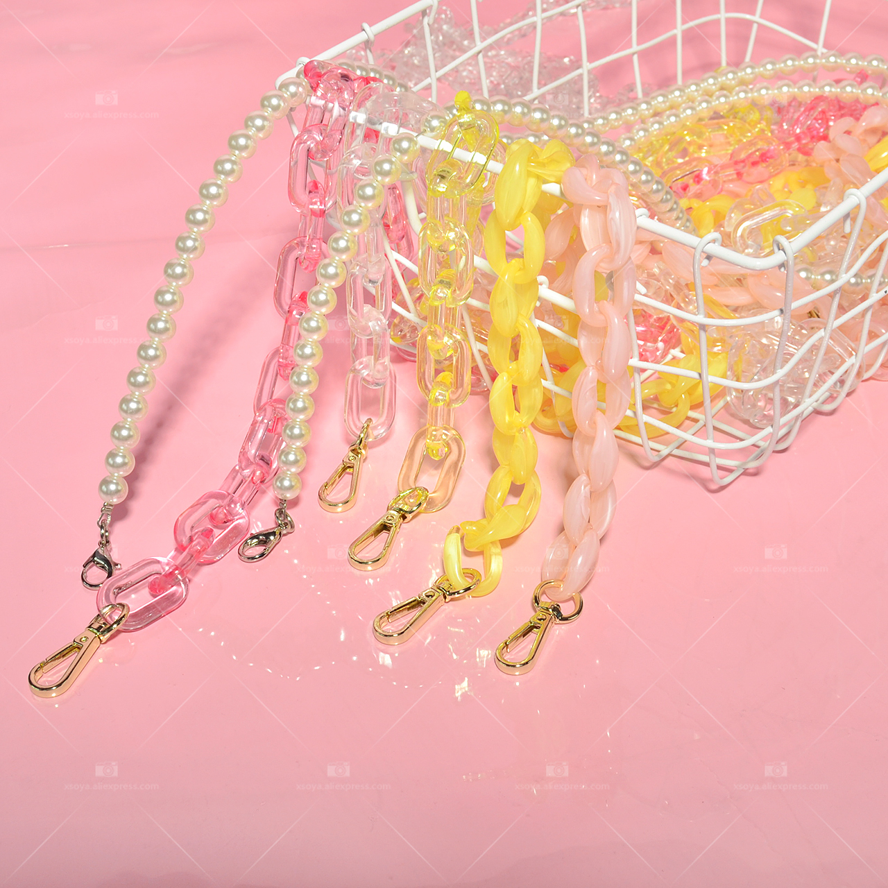Punk Style Hip Hop Chain Ins Popular Fluorescent Plastic Stainless Steel Chain Pants Chain Waist Chain Men And Women CL131