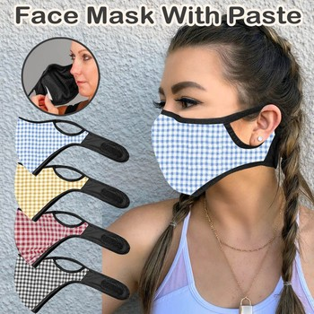 fashion face mask  Adult Fashion Print PM2.5 Mask Face With Mask Filter Pocket Face Mask Paste Blue,Yellow,Pink,Black