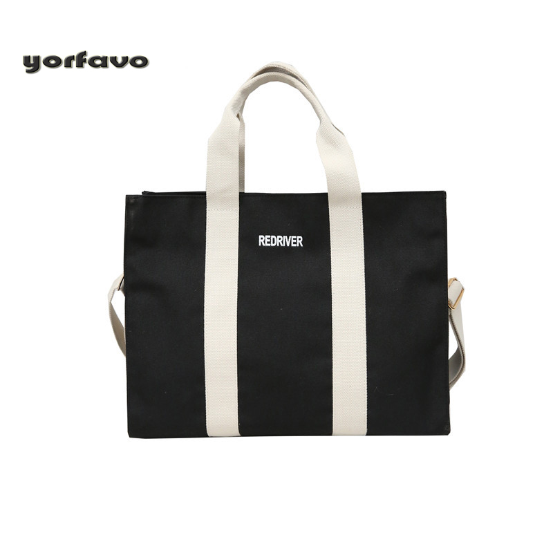 Women  Handbag Canvas Luxury Tote Large Capacity Female Casual Shoulder Bag Lady Daily Handbag Fresh Beach Bags New Shoulder Bag