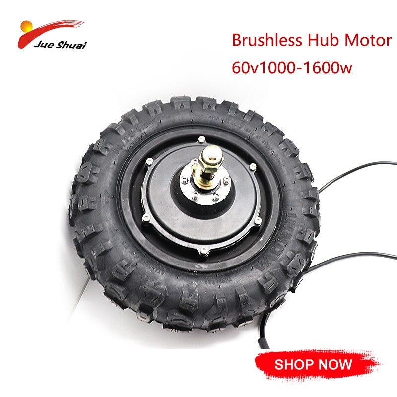 """11 """"60V 1000-1600w moteur E Scooter Kit de Conversion de pneu sous vide Scooter électrique pièces de roue de moteur bricolage E vélo moteur de moyeu sans brosse"""