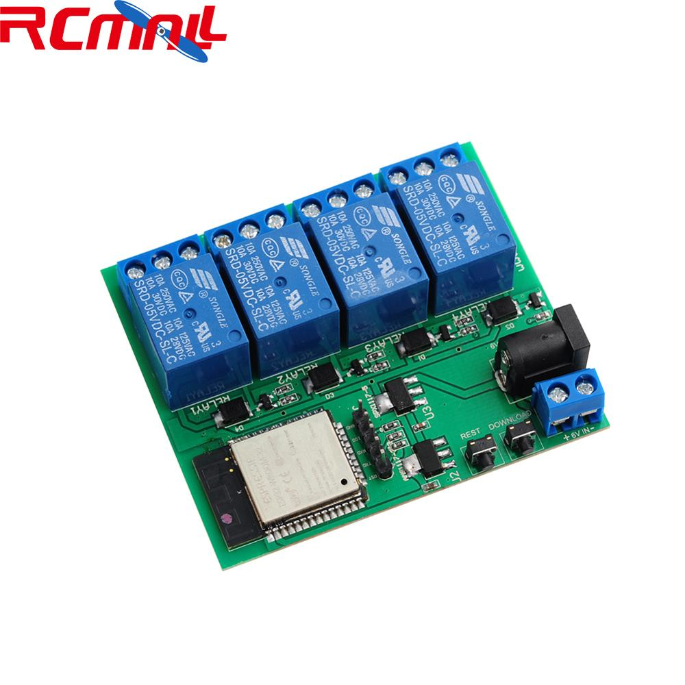 ESP32S 4 Channel Wifi Bluetooth Relay Module IOT Phone APP Control, Support For Android APP For Smart Home DIYMall