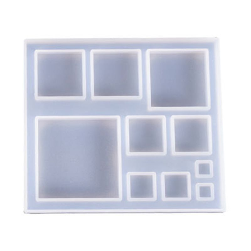 Silicone Molds Snowflake Square Jewelry Mold DIY Jewellery Making Accessories UV Resin Tool