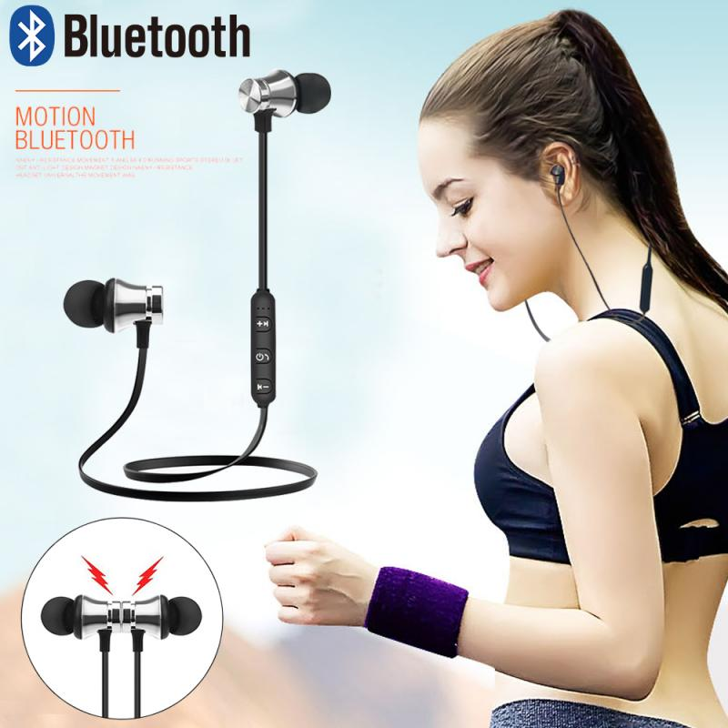 Bluetooth Earphone Sports Gaming Headset Neckband Magnetic Wireless earphones Stereo Earbuds Headphones With Mic For Iphone 7