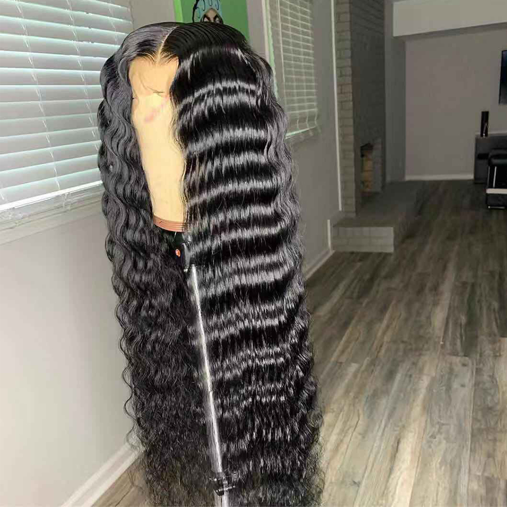 13x6 Lace Front Human Hair Wigs Water Wave Lace Wig Pre Plucked Remy 6x6 Lace Closure Wig Brazilian Curly Human Hair Wig