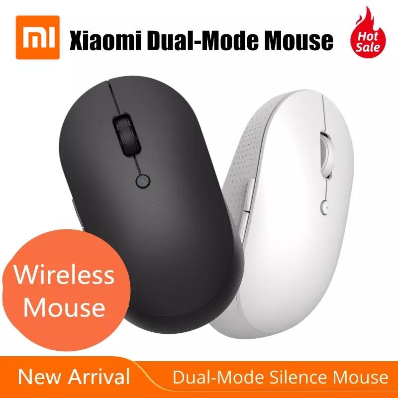 Оригинальная Беспроводная Двухрежимная мышь Xiaomi, бесшумные эргономичные боковые кнопки подключения Bluetooth / USB с батареей для ноутбука