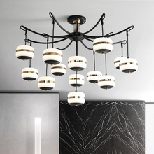 Modern Creative Nordic LED Chandelier With Glass Ball For Living Room Bedroom Wooden Chandeliers Indoor Lighting Fixtures modern led plating ball chandeliers restaurants bar study bedroom creative personality glass ball chandelier free shipping