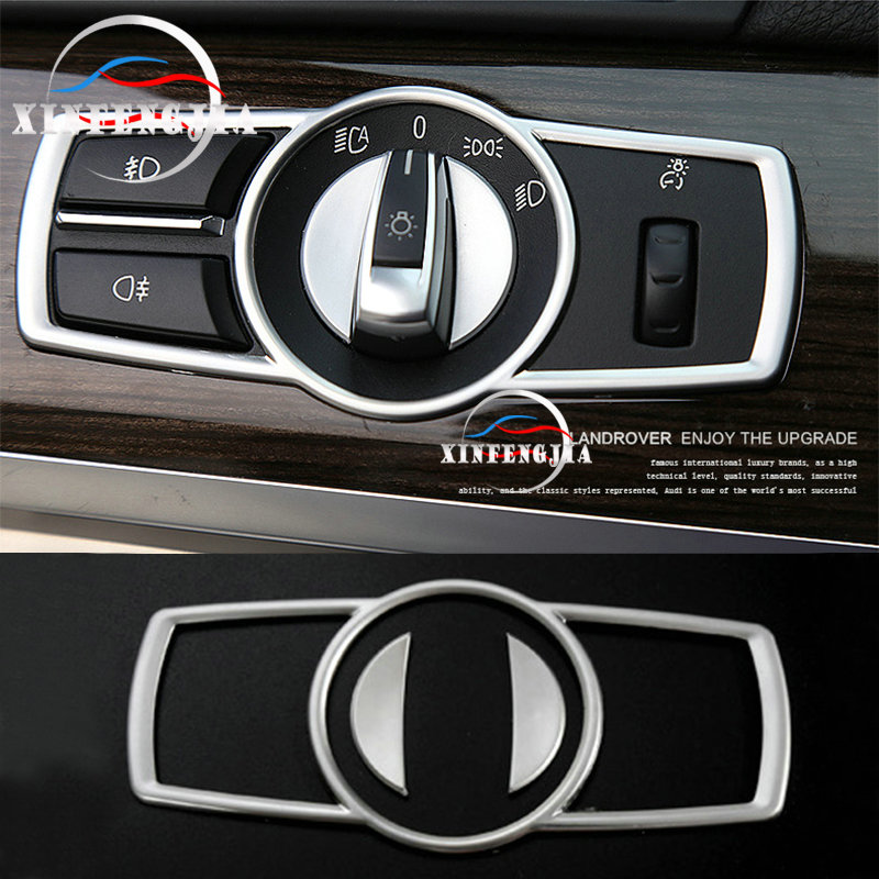 For BMW 7//5 Series F10 X3 X4 Headlight Head Light Switch Button Frame Cover Trim