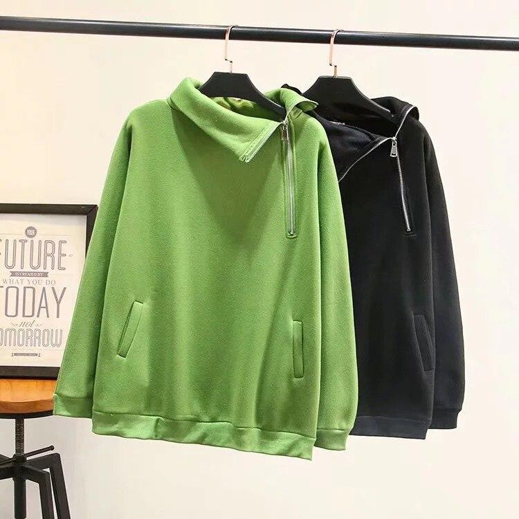 Осенне зимняя женская и Мужская бархатная толстовка на молнии, пуловер, свитшоты, одноцветная толстовка с капюшоном, унисекс, Женский пуловер, верхняя одежда - 3