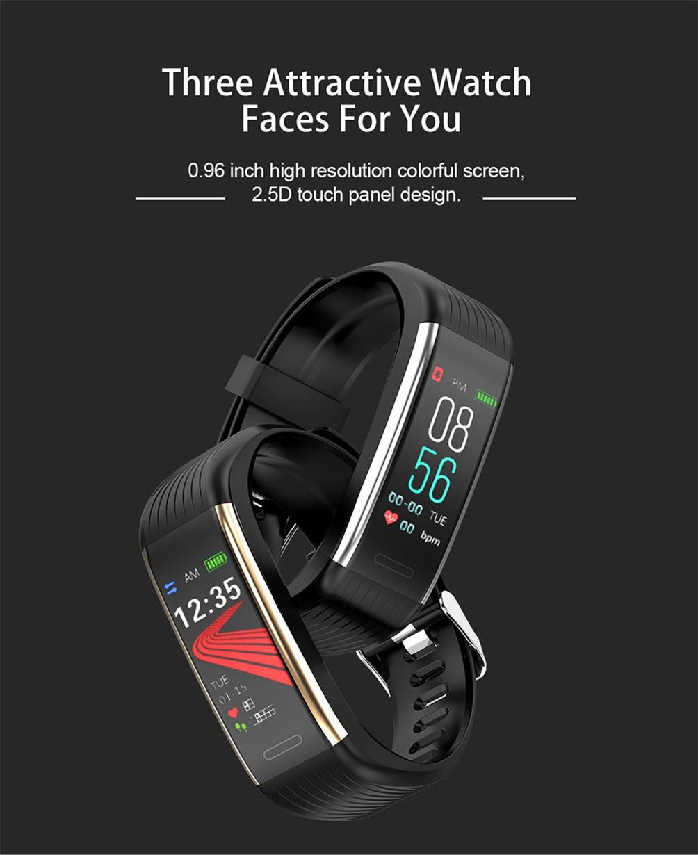 H62dee16ef61e486eb5822bfece60f775T 2020 Smart Wristband Fitness Bracelet Blood Pressure Measurement Smart Bracelet Heart Rate Waterproof Pedometer Smart Band Watch