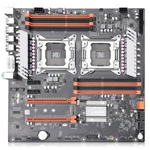 Image 3 - Jingsha X79 Dual CPU Motherboard LGA2011 SATA3.0 E ATX M.2 DDR3 Mainboard