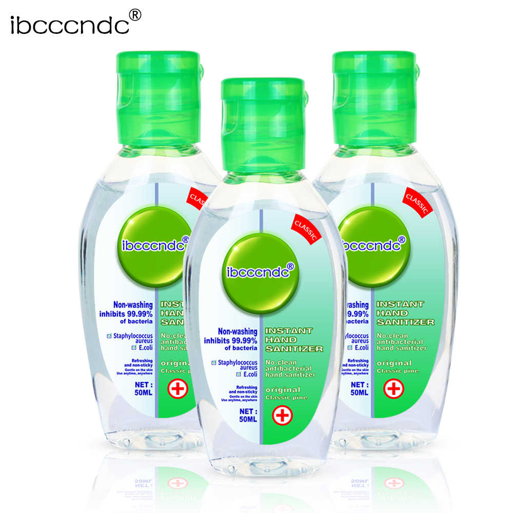 50ml Travel แบบพกพา Hand Sanitizer GEL Anti-แบคทีเรีย Moisturizing Liquid Disposable NO Clean Waterless Antibacterial Hand GEL