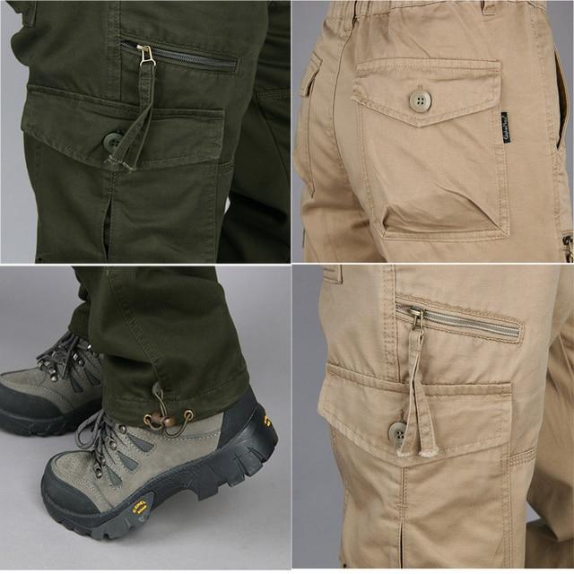 New 2019 Men Cargo Pants Multi Pockets Military Tactical Pants Men Outwear Streetwear Army Straight Slacks Casual Long Trousers 6