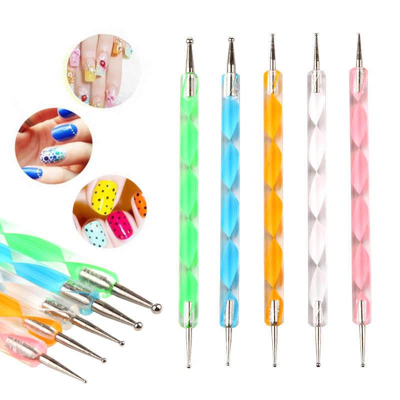 Nouveau 7/15 pièces Nail Art brosse cuticule revitalisant huile pointillage outil manucure peinture pinceaux ensemble UV Gel vernis Design brosses à ongles