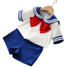 Kid Baby Toddler Boy Girl Sailor Moon Halloween Christmas Cosplay Costume Japan School Uniform Suit Tshirt T-Shirt Shorts Pants(China)