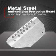 4Pcs Stainless Steel Chassis Armor Protection Skid Plate Kit for 1/10 RC Crawler TRX-4 G500 Traxxas-4 82056-4 RC Car traxxas summit e revo chassis armor protection crash protection suit bottom spot for 1 10 rc car
