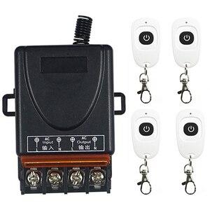 Image 1 - AC 110V 220 V 1CH 1 CH RF ไร้สายรีโมทคอนโทรล10A เอาท์พุทรีเลย์โมดูลรับสัญญาณวิทยุ + ปุ่มเครื่องส่งสัญญาณ