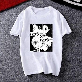 Men Women T-shirt Tops Kawaii Hunter X Hunter Tshirt Killua Zoldyck T-shirt Crew Neck Fitted Soft Anime Manga Tee Shirt Clothes 2