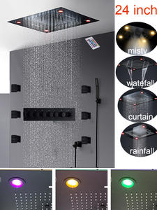 Shower-Set Massage Mist-Waterfall Body-Jets Large-Flow-Mixer Led Rain 6-Functions Luxury
