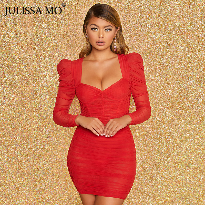 JULISSA MO mesh bodycon dress 2020 spring party dress (6)