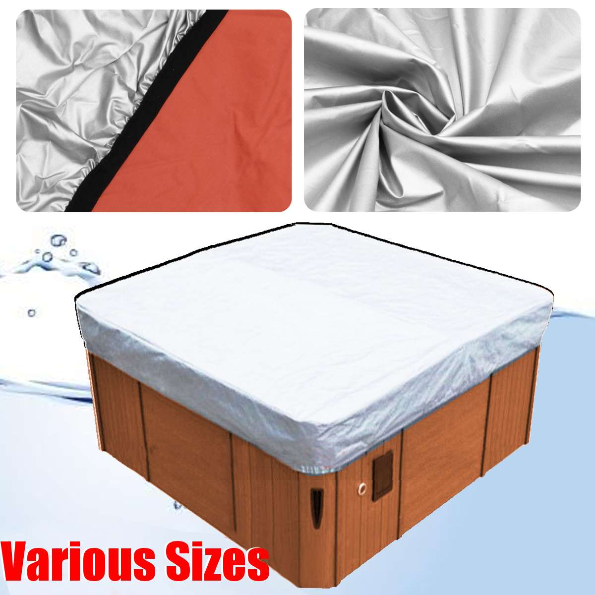 37 Sizes Universal Spa Tub Cover Hotspring Cover Cap Cubierta Protector Jacuzzis Hotspring Spa Cubrir Cubierta Weather Guard