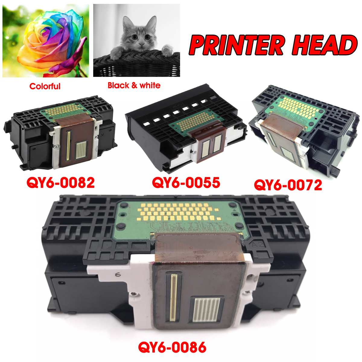 LEORY QY6-0055/QY6-0072/QY6-0082/QY6-0086 Printer Head Printing Spare Parts For Canon IP8500 IP7220 MX922 IP4600 MP640 Pro9000