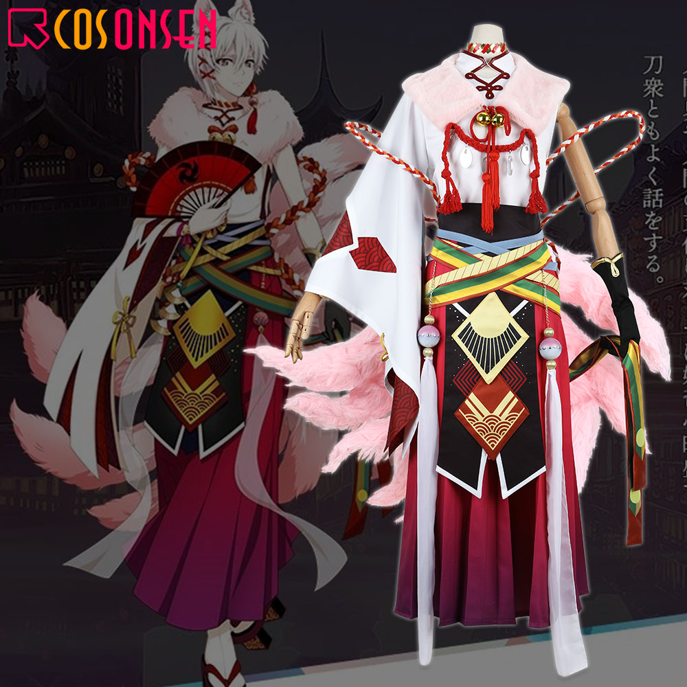 IDOLiSH7 Kujo Tenn KYUBINOKITSU YOKAI Cosplay Ayakashi Mangekyo Karatogaokuri Costume New Suit COSPLAYONSEN Custom Made Full Set