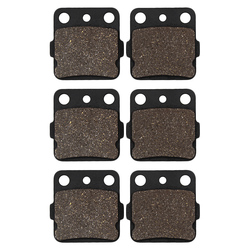 Cyleto Motorcycle Front and Rear Brake Pads for Honda ATC250 RD 83-84 TRX 300 93-11 TRX400EX TRX 400EX 99-09 Fourtrax / Sportrax