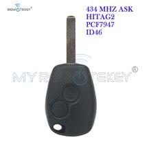 Remote car key for Renault Clio Kangoo Master Modus Twingo 2006 2007 2008 2009 2010 2 button VA6 433 mhz PCF7947 remtekey qcontrol car remote key suit for renault master clio twingo kangoo pcf7946 chip 433mhz