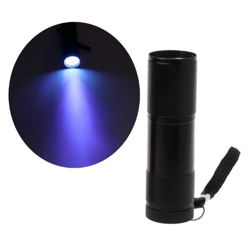 9W UV Resin Curing Lamp Light 9 LED 395nm UV Blacklight Flashlights Jewelry Tool AXYD