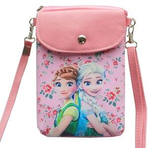 Disney Frozen 2 torebki dla dzieci Crossbody torba Kawaii Elsa Anna księżniczka moneta torebka szkoła Anime zabawki świąteczne dziewczyny prezent