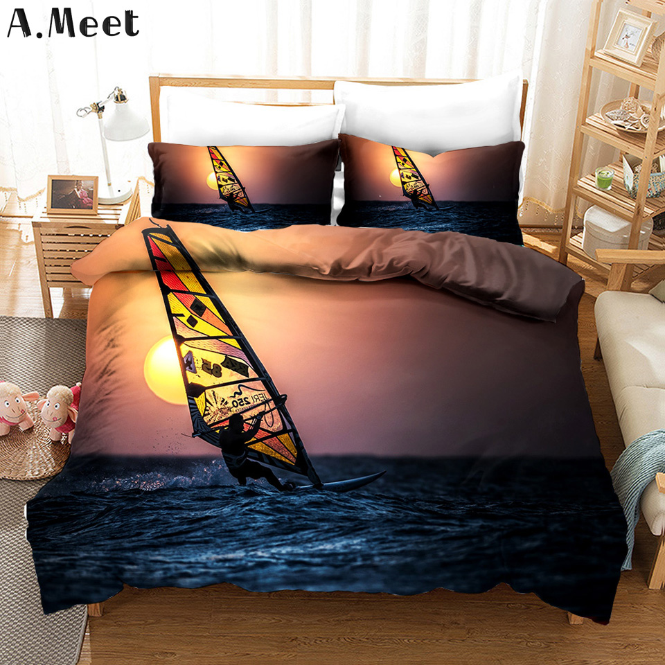 Copripiumino Matrimoniale King Size.Surfer Linen Bedding Sets Brand 3d Printed Queen King Bed Set Bed Linen Bedsets Copripiumino Matrimoniale Summer Home Textile Bedding Sets Aliexpress