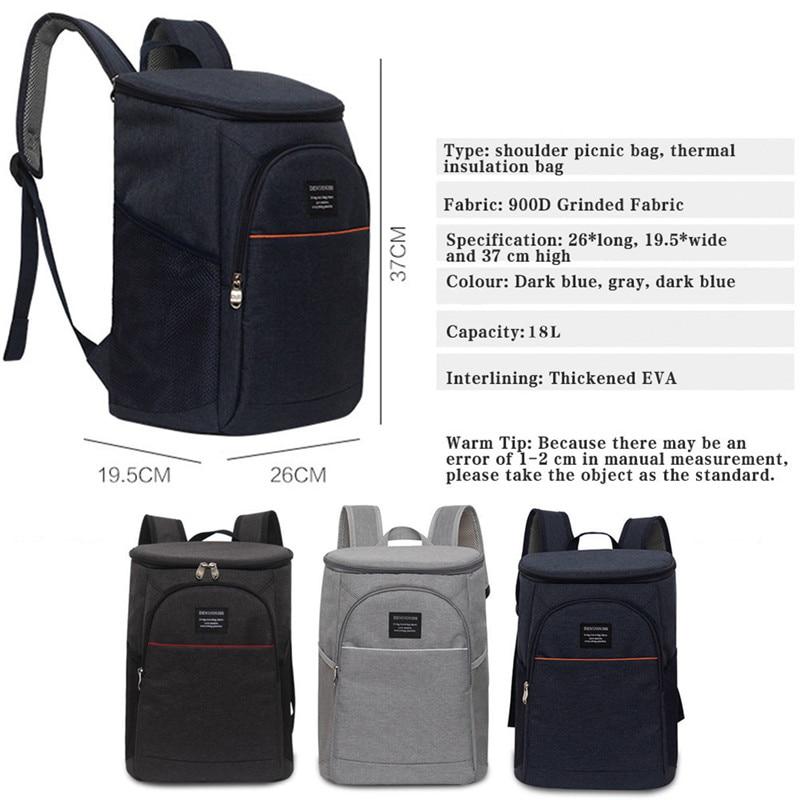 mochila saco de ombro térmico grande caixa