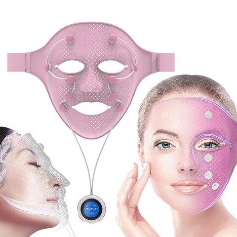 3d silicone m scara facial beleza micro corrente led photon m scara anti idade remover