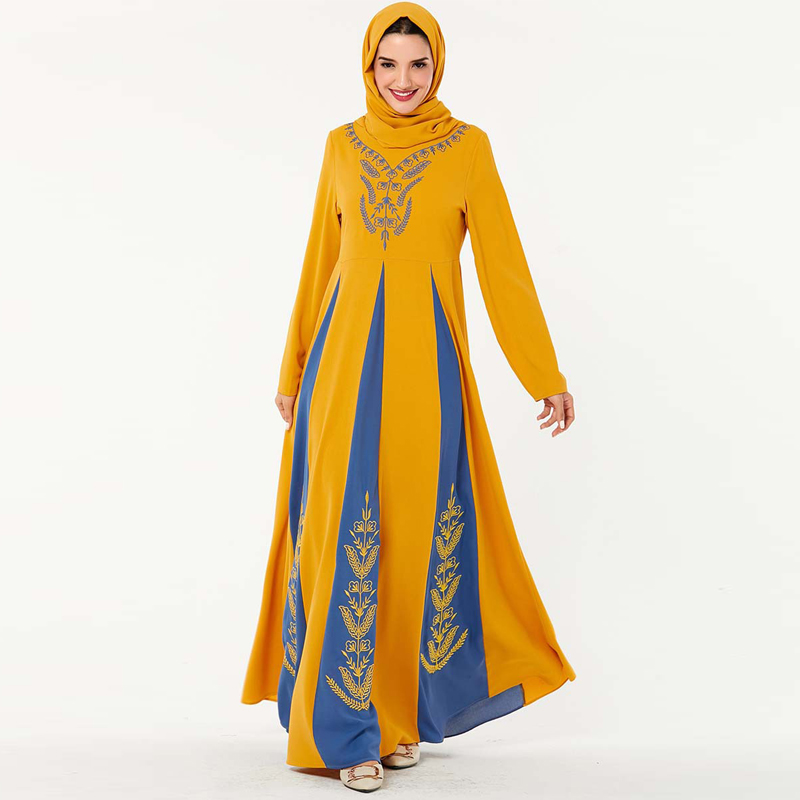 Eid Mubarak Abaya Dubai Turkey Hijab Muslim Dress Islam Clothing Abayas Maxi African Dresses For Women