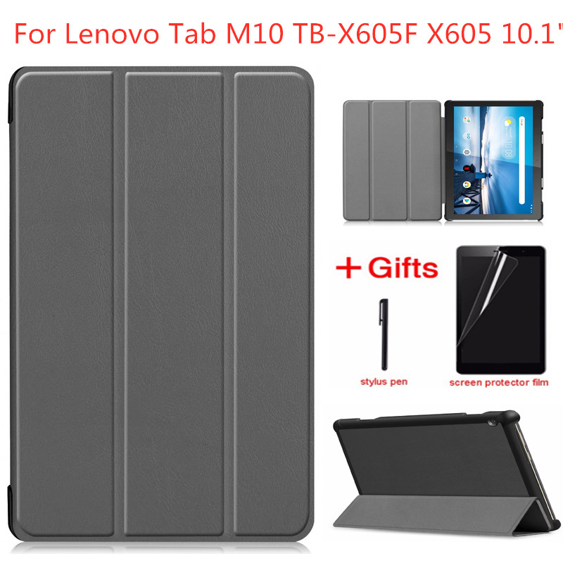 New Arrival Slim Hard Case For Lenovo Tab M10 TB-X605F 2018 Release Tablet 3 Fold Magnetic Stand Cover For M10 X605 10.1 Inch
