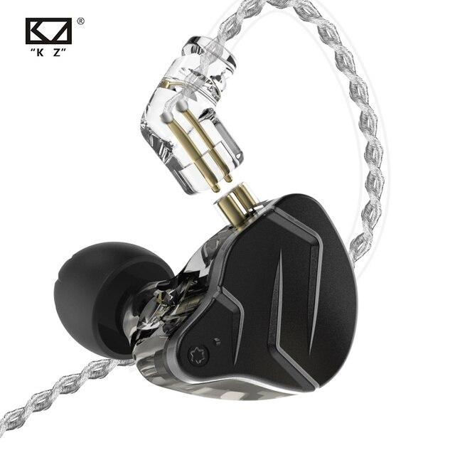 KZ ZSN Pro X Metal Earphones 1BA+1DD Hybrid technology HIFI Bass Earbuds In Ear Monitor Headphone Sport Noise Cancelling Headset 2