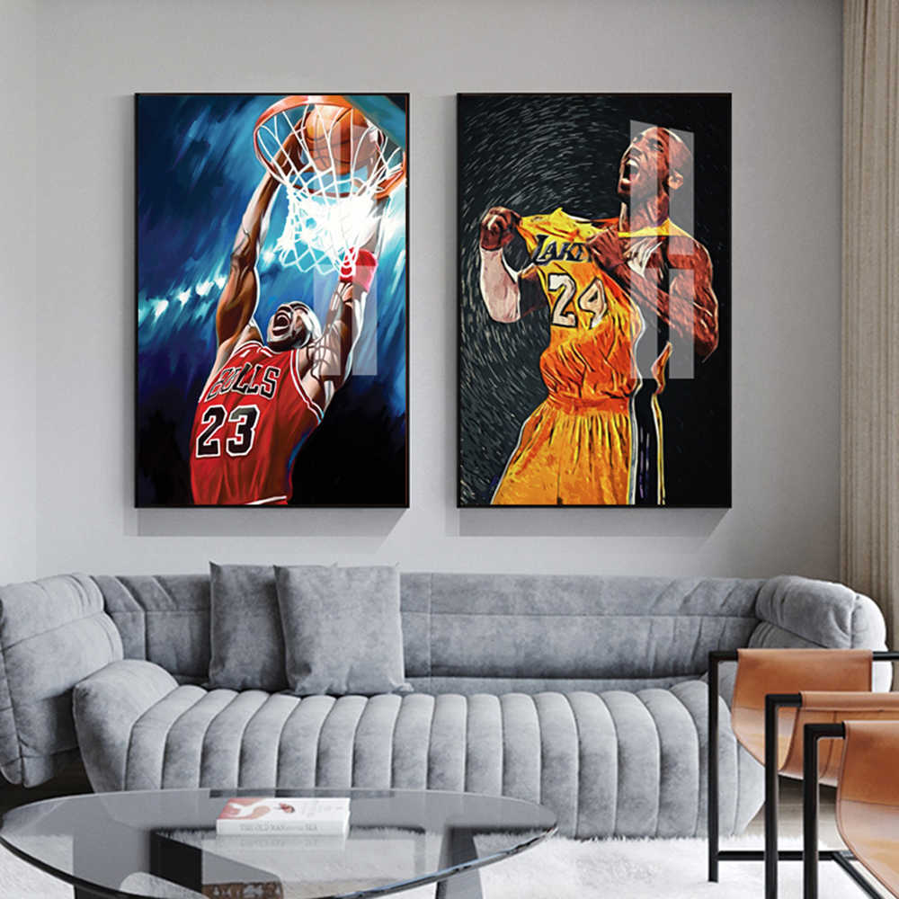 Nordic Basketball Star  Wall Art Prints Poster Wall Paomtomg For Bedroom Decor Home Decor