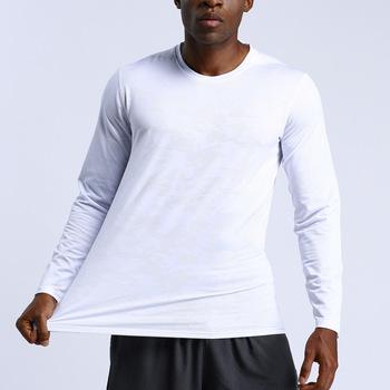 Nowa koszulka kompresyjna męska koszulka Fitness z długim rękawem koszulka do biegania męska koszulka gimnastyczna szybkoschnąca odzież sportowa Sport mocno tanie i dobre opinie CN (pochodzenie) Pasuje prawda na wymiar weź swój normalny rozmiar Szybkie suche