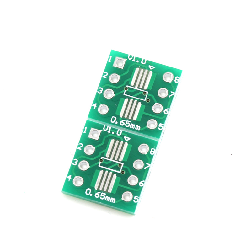 20pcs SOP8 TSSOP8 SSOP8 To DIP8 Transfer Board DIP Pin Board Pitch Adapter