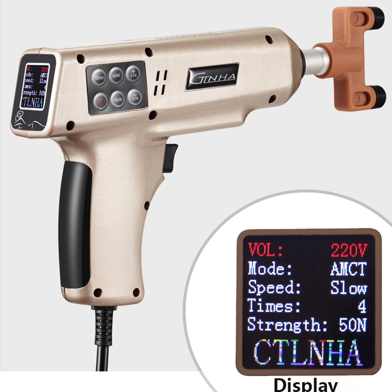 LCD Screen Therapy Chiropractic Adjusting Instrument Intelligent Spine Correcting Massage Apparatus Electric Correction Gun