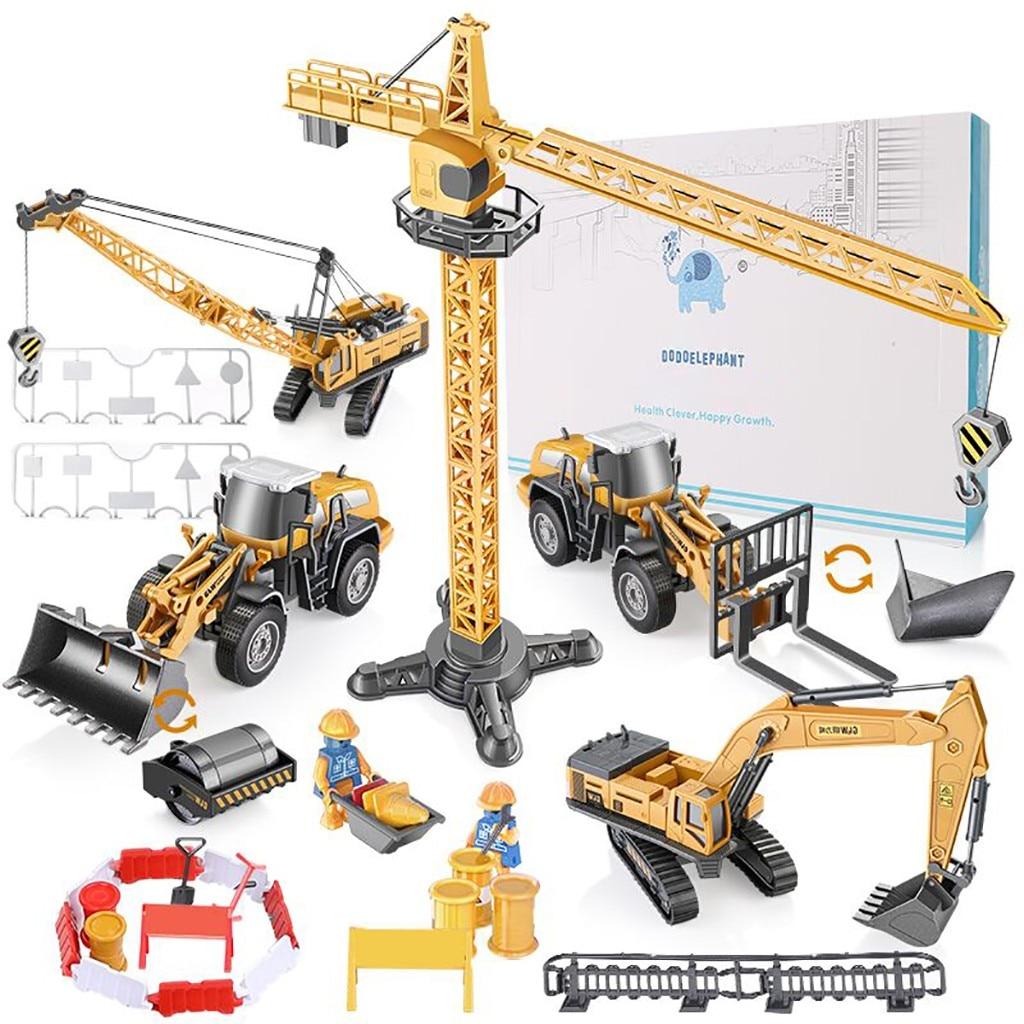 Ensemble de jouet de véhicule Intelligent, tracteur d'ingénierie et ensemble de jouet d'excavatrice pelle de grue juguetes zabawki jouets d'enfants nouveau