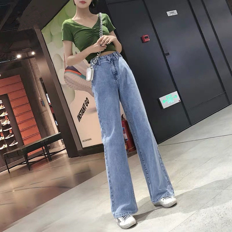 Fa9011 2019 New Autumn Winter Women Fashion Casual  Denim Pants Womens Jeans Womens Clothing