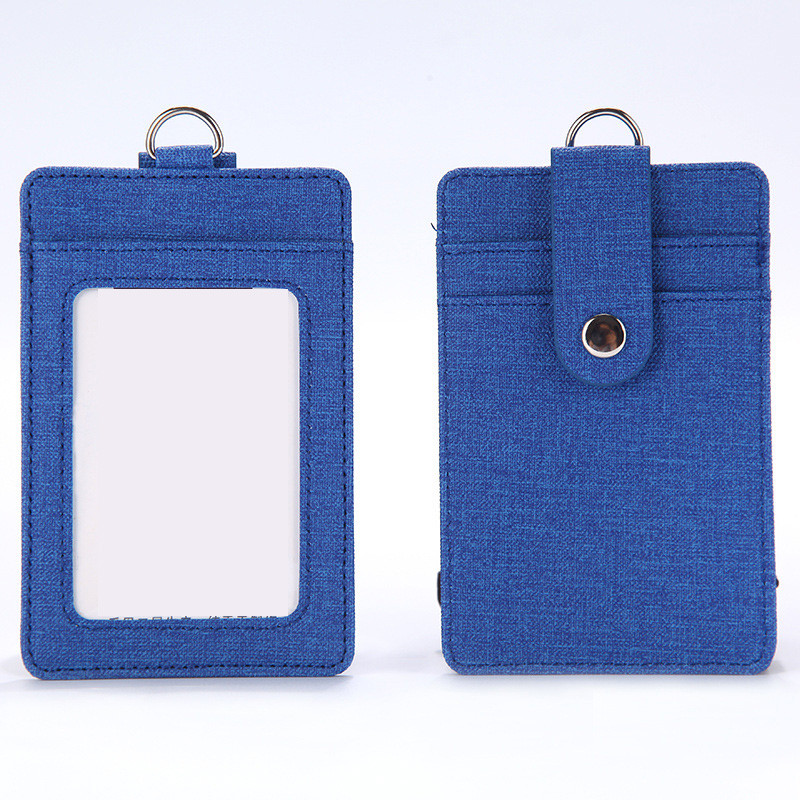 NAHOO ID Card Holder Wallet Halter Student Bus Card Cover Money Coin Purse Zipper Pouch Hanging Neck Multifunction Card Bag