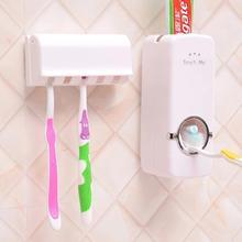 цена на Bathroom Accessories Set Toothbrush Holder Automatic Toothpaste Dispenser Holder Toothbrush Wall Mount Rack High Quality