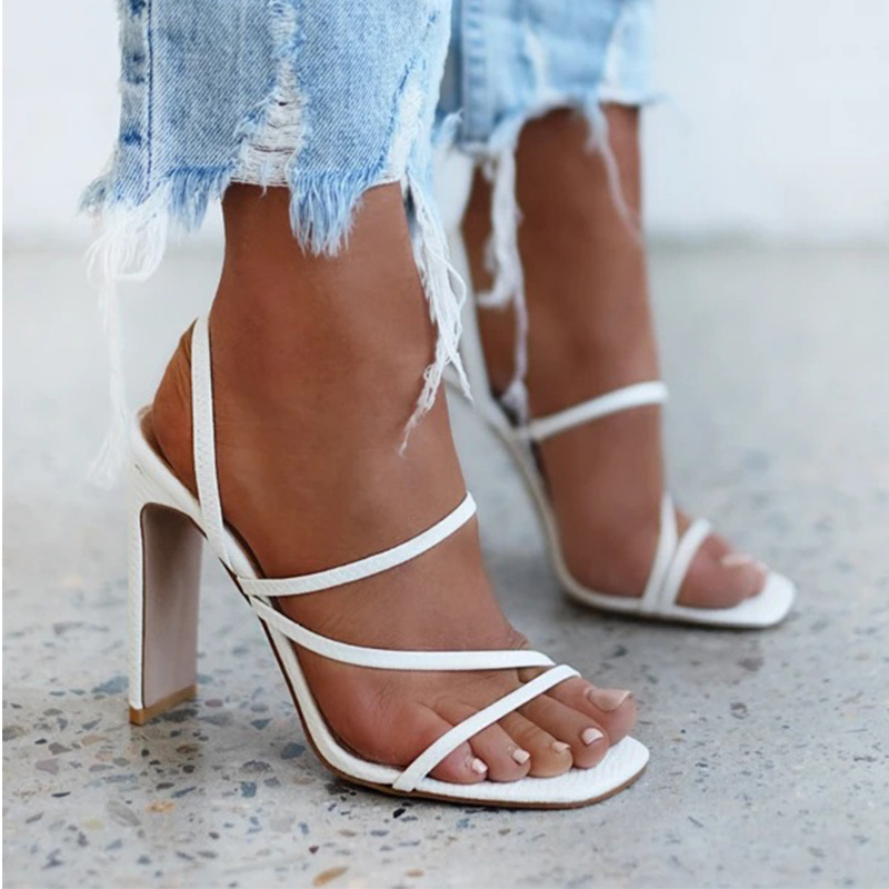 2021 Women Pumps Open Toe Sexy Sandals Ladies Thin Belt High Heels Females Outdoor Party Dress Brand Fashion Shoes For Lady