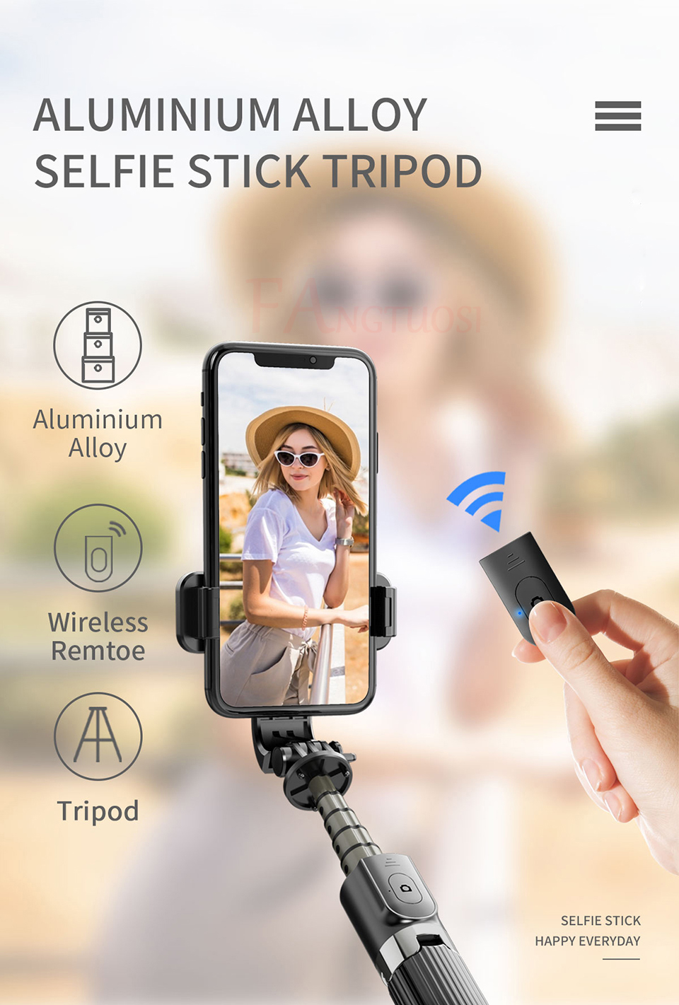 3 in 1 Wireless Selfie Stick