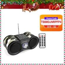 Радиоприемник RETEKESS V113 FM стерео портативный транзистор Поддержка Mp3 музыкальный плеер динамик Micro SD IF карта AUX пульт дистанционного управления F9203M