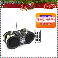 Retekess V113 Radio Ontvanger Fm Stereo Draagbare Transistor Ondersteuning Mp3 Music Player Speaker Micro Sd Als Card Aux Remote F9203M